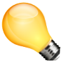 Business Idea Yellow Bulb